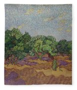 Olive Trees Fleece Blanket