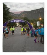 Pikes Peak Marathon And Ascent Fleece Blanket