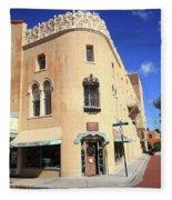 Santa Fe - Adobe Building Fleece Blanket