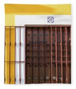 Wooden Door In Old San Juan, Puerto Rico Fleece Blanket