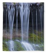 Water Flowing Over Rocks Fleece Blanket