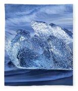 Ice On Beach Fleece Blanket