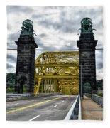 16th Street Bridge Fleece Blanket