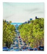 16th Street Northwest Fleece Blanket
