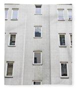Apartment Building Fleece Blanket