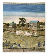 Battle Of Lexington, 1775 Fleece Blanket