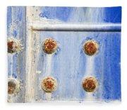 Blue Metal Fleece Blanket