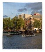 Canals Of Amsterdam Fleece Blanket