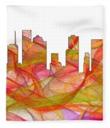 Houston Texas Skyline Fleece Blanket