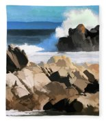 17 Mile Drive Pacific Ocean  Fleece Blanket