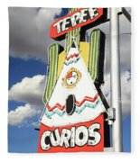 Route 66 - Tucumcari New Mexico Fleece Blanket