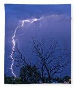 17 Street To Hygiene Lightning Strike. Fleece Blanket