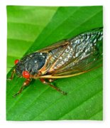 17 Year Periodical Cicada Fleece Blanket