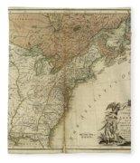 1783 United States Of America Map Fleece Blanket