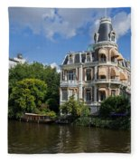 Canals Of Amsterdam Fleece Blanket