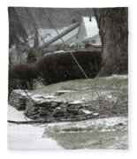 Ice Storm Fleece Blanket