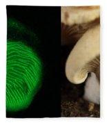 Luminescent Mushroom, Panellus Stipticus Fleece Blanket