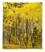 Rocky Mountain Autumn Fleece Blanket