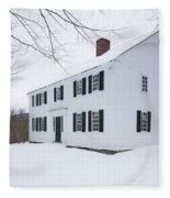 1800 White Colonial Home Fleece Blanket