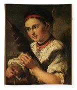 1820- Vasily Tropinin Fleece Blanket