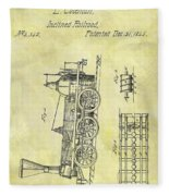 1845 Locomotive Patent Fleece Blanket
