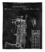 1845 Railroad Patent Fleece Blanket