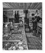 1860's Ore Assay Office Shop - Montana Fleece Blanket