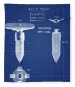 1868 Base For Baseball Players Patent In Blueprint Fleece Blanket