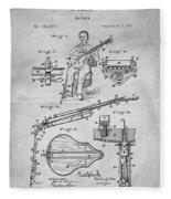 1873 Guitar Patent Blueprint Fleece Blanket