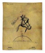 1874 Horse Blinder Patent Fleece Blanket