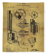 1875 Revolver Patent Fleece Blanket