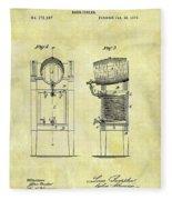 1876 Beer Cooler Patent Fleece Blanket