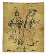 1876 Fireman's Suit Fleece Blanket