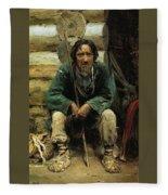 1876 Vasily Polenov Fleece Blanket