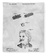 1879 Mustache Guard Patent Fleece Blanket