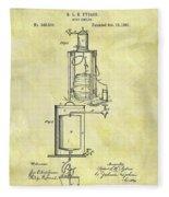 1881 Beer Cooler Patent Fleece Blanket