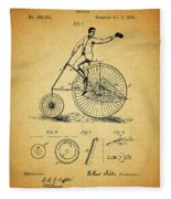 1883 Bicycle Fleece Blanket