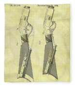 1884 Rifle Stock Patent Fleece Blanket