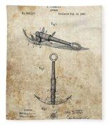 1887 Anchor Patent Fleece Blanket