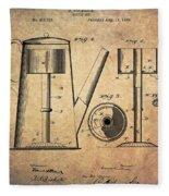 1889 Coffee Maker Patent Fleece Blanket
