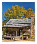 1890's Farm Cabin Fleece Blanket