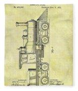 1891 Locomotive Patent Fleece Blanket