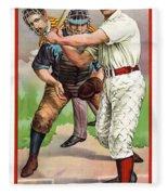1895 In The Batters Box Fleece Blanket