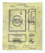1895 Police Call Box Fleece Blanket