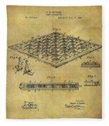 1896 Chess Set Patent Fleece Blanket