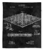 1896 Chessboard Patent Fleece Blanket