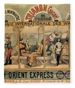 1896 Orient Express Musical Revue Paris Fleece Blanket