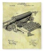 1896 Typewriter Patent Fleece Blanket