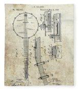 1897 Banjo Patent Fleece Blanket