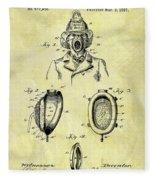 1897 Fireman's Inhaler Patent Fleece Blanket